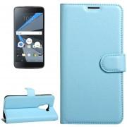 Para BlackBerry Dtek60 Litchi Texture Horizontal Flip Funda De Cuero Con Hebilla Magnetica Y Titular Y Ranuras Para Tarjetas Y Cartera (azul)