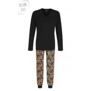 Ringella Heren pyjama marvel zwart Ringella