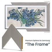 "Frame My TV Deco TV Frames Marco de fotos de acero inoxidable cepillado personalizado para cualquier tamaño Samsung The Frame TV 65"" FRM-SF-D1007-65"