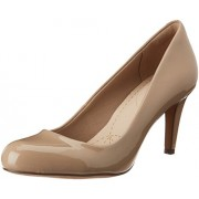 Clarks Women's Sand Patent Leather Pumps - 5 UK/India (38 EU)