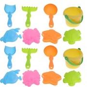 TOYANDONA 16Pcs Kids Beach Sand Toys Set Juguetes Creativos de Dragado de Arena Pala de Playa Cubo de Riego Regadera Juguetes de Arena para Niños Pequeños Niños (Color Aleatorio)