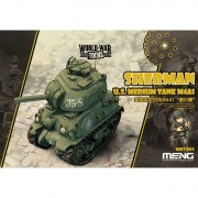 Maquette Char : World War Toons : Sherman Us Medium Tank M4a1