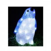 Figurina Luminoasa de Craciun Pinguin 3D Acril cu LEDuri 29cm 3169