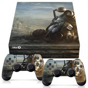 Controller Gear Officially Licensed Console Skin Bundle for PS4 Pro Fallout Power Armor Helmet