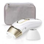 Braun Silk Expert Pro 5 PL5124 IPL Haarentfernungsgerät für Beine Körper und Gesicht Weiß/Gold