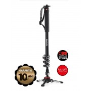 Pachet Manfrotto MVMXPROA4 Monopied fluid + Manfrotto MVH500AH cap trepied video + Manfrotto geanta trepied 80 cm Non Padded