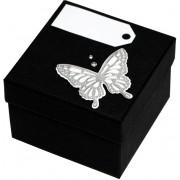 Giftisimo Luxusní dárková krabička se stříbrným motýlkem GF0005
