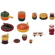 Beautiful Wooden Toy Kitchen Set For Girls