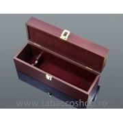 Cutie lemn cu 5 accesorii vin si capac transparent