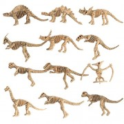 MagiDeal 12Pcs Plastic Simulation Dinosaurs Skeleton Model Set Mini Dinosaur Model Figures Kids Educational Toys Party Favors Home Decoration