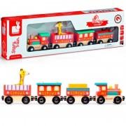 Trenuleț magnetic din lemn, Animale de la circ