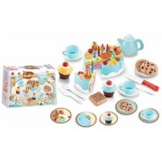Birthday Cake Pretend Play Set: Blue/75-Piece Birthday Cake and Dessert Set