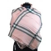 NEW BERRY dámská pletená šála / pléd BC717 růžová
