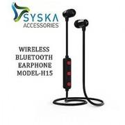 Syska H-15 Black Wireless Bluetooth Headset Earphone With MIC