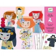 Djeco / Folded Paper Toy Kit Kokeshis