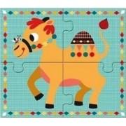 DJECO Drewniane puzzle RIGOLO, układanka świat zwierząt, kolorowe egzotyczne zwierzęta NOWOŚĆ 2014 2+ DJ01556
