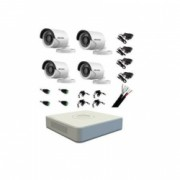 Kit supraveghere exterior wireless Acvil Kit WIFI-2MP- 4 camere IP 2 MP IR 25 m 3.6 mm monitor LED 18.5 INCH