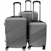 Set de 3 Maletas Rígidas ABS Para Viajes - Plata