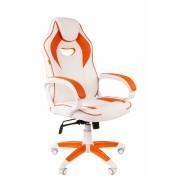 Scaun gaming rotativ Semba 16 alb orange