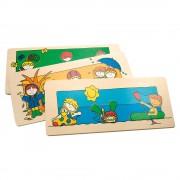 Puzzle din lemn - Anotimpurile - Bino