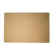 Merkloos 1x Gouden glitter placemats van vinyl 43,5 x 28,5 cm
