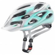 Uvex Onyx cc Casco per bici (52-57 cm, grigio/turchese/bianco)