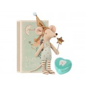 Maileg Tooth fairy, big brother mouse w. metal box - taille 12 cm - de 0 à 36 mois