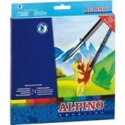 Creioane colorate ALPINO Aqualine acuarela cutie carton 24 culori-set