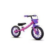 Bicicleta Infantil Feminina Com Aro 12 Balance Bike Nathor