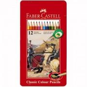 Creioane Colorate In Cutie Metal Faber-castell 24 Culori / Cutie Metal