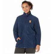 Columbia College Plus Size Illinois Fighting Illini CLG Give and Gotrade II Full Zip Fleece Jacket Collegiate Navy