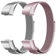 "Oitom For Fitbit Alta HR Accessory Bands and For Fitbit Alta Band,Small 5.1""-6.7"" (Silver+Sakura Pink, Small 5.1""-6.7"")"