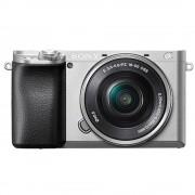 Sony Alpha A6100 Aparat Foto Mirrorless 24.2 MP Kit cu Obiectiv 16-50mm 4K Argintiu