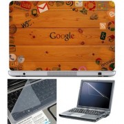 Finearts Laptop Skin Google Wallpaper With Screen Guard And Key Protector - Size 15.6 Inch