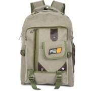Classic Canvas Cargo Multi Pocket School Bag |Casual Bag | Shoulder Backpacks for Girls & Boys 29 L Backpack(Green)
