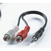 Roline VALUE kabel adapter 3.5mm Jack M / 2×chinch F, 0.2m, 11.99.4340
