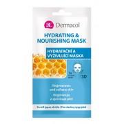 Dermacol Mască texitilă hidratantă și nutritivă pentru toate tipurile de ten 3D (Regenerates Softens Skin) 1 bucată