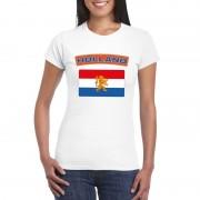 Bellatio Decorations Nederlandse vlag shirt wit dames