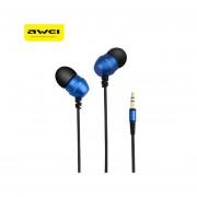 Audífonos, Q8 Super Deep Estéreo Nylon Atado Con Alambre Auriculares De Metal En El Oído Para El Teléfono Reproductores De MP3 3.5mm Jack Para Sony Iphone Samsung (azul)
