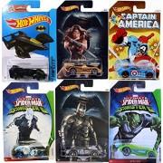 Comic Super Hero Hot Wheels Spider-Man VS Batman Captain America VS Wonder Woman VS Sinister 6 Green Goblin - Electro Fandango Ultimate Spider-man / power pistons Sir Ominous Batman Live