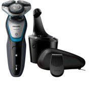 Aparat de ras Philips S5400/26, Lame Multiprecision, LED, Docking de curatare, Acumulator, 3 capete, Rotire in 5 directii, Trimmer, Negru