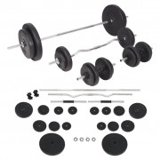 vidaXL Set de haltere și gantere 90 kg