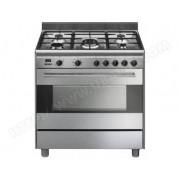SMEG cuisinière mixte a 126l 5 feux inox - bg91x9