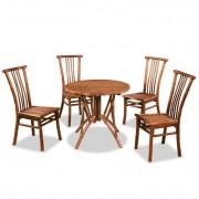 Set de mobilier de bucătărie, 5 piese, bambus