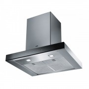 Hota Franke Crystal FCR 625 TC BK XS Glass Black Steel, Semineu dreapta, Intensiv 690 m3/h, 60 cm, Sticla neagra/Inox