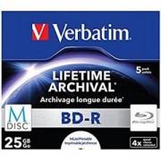 MDISC Lifetime Archival BD-R - 25GB, 4x speed, Printable