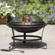 RedFire Vatră de foc Atlanta negru 51 cm oțel 85014