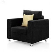furniture4U - Fully Upholstered Single-Seater Sofa - Premium Valencia Black