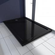 vidaXL Obdélníková ABS sprchová vanička černá 80 x 120 cm
