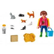 Woman with Cat Family by Playmobil